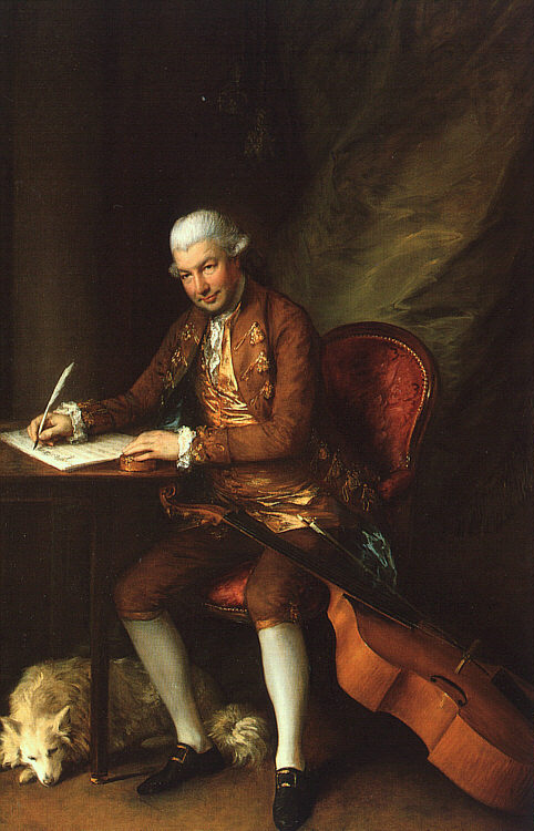 painting by one of Abel's close friends, Thomas Gainsborough